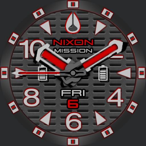 PVS Nixon Factor-X Red T-Grid