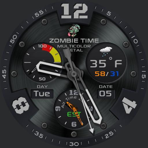 ZOMBIE TIME 5-colour METALLIC w/Alt Time Zone