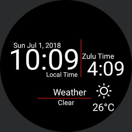 Zulu Watch Black