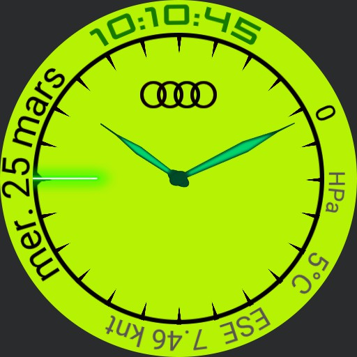 Audi watchface Lime Green  Copy