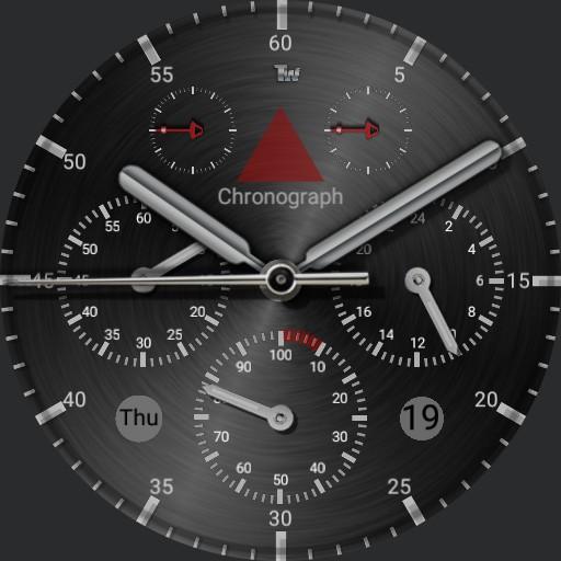 dual silver watchface