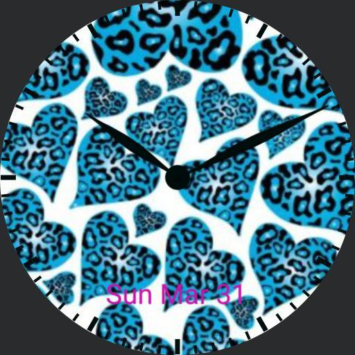 Blue Leopard Hearts - plwren