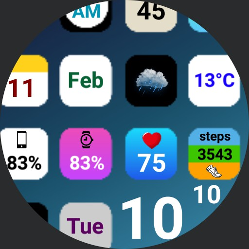 iPhone watch face