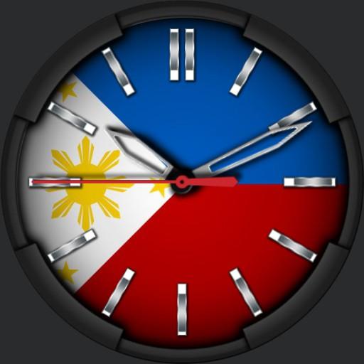 Philippine Flag Clock