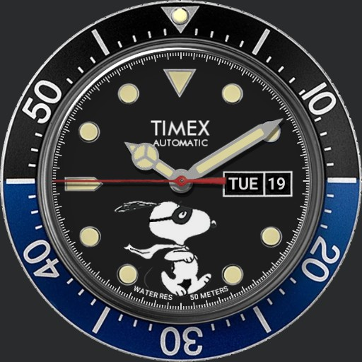 Timex M79 Automatic x Peanuts Featuring Snoopy Masked Marvel