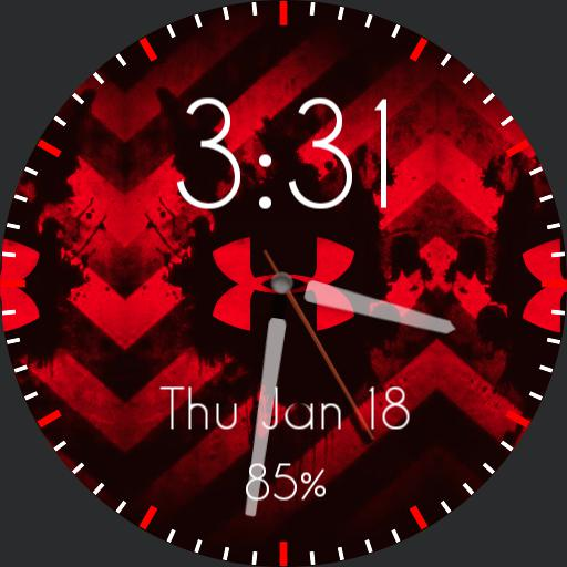 Red/Black Under Armour Watch Face