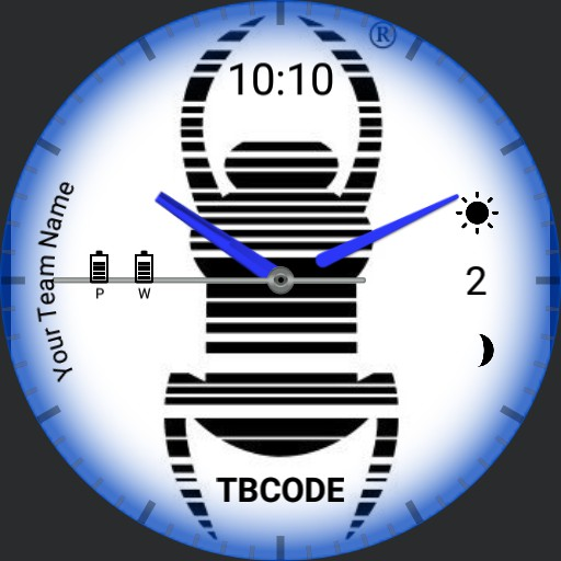 Travel bug Watch Face - white