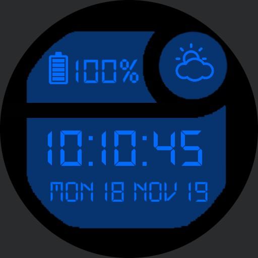 Classic Digital Watch Dark Blue