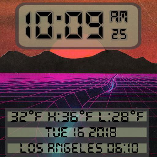 80s Vapor Wave LCD