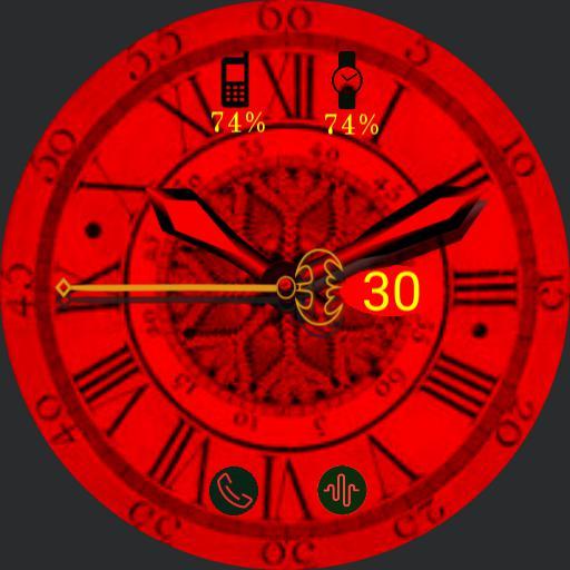 Romantic red clock