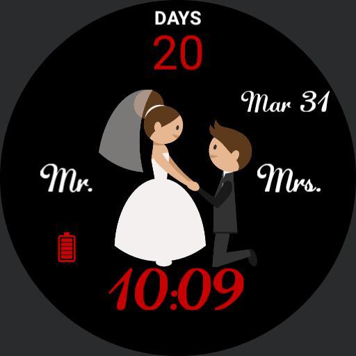 Wedding Countdown watchface