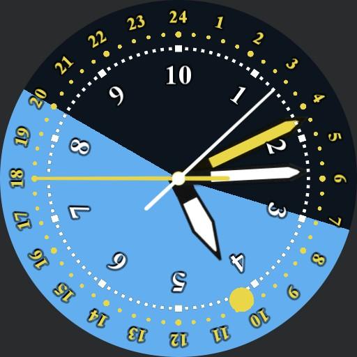 Sextodec 10h Decimal Time Watch