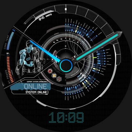 Ironman bootup meny clock