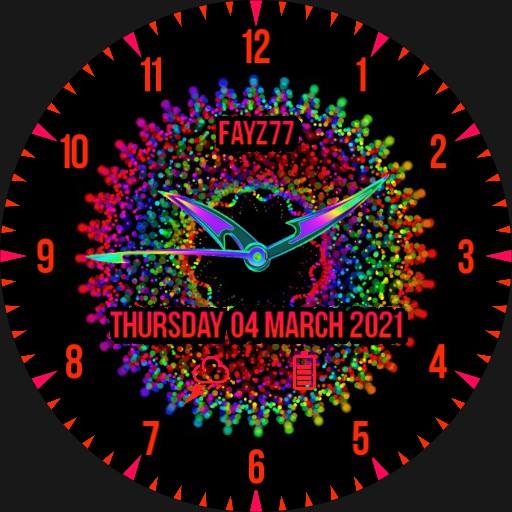 Neon multicolour rotation.