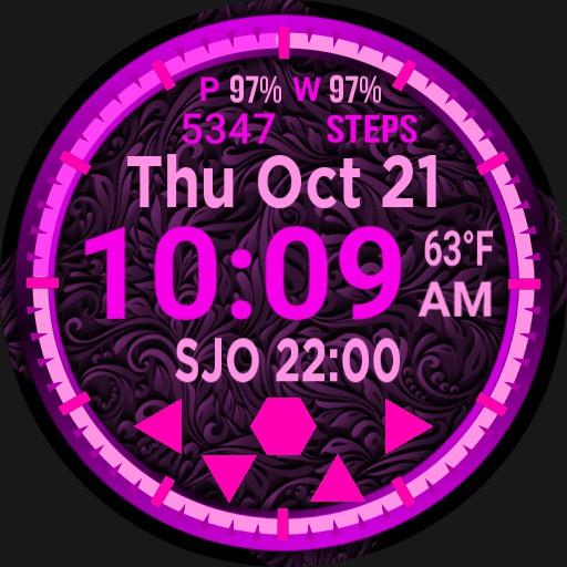Big Digital Pink Calendar Step Player