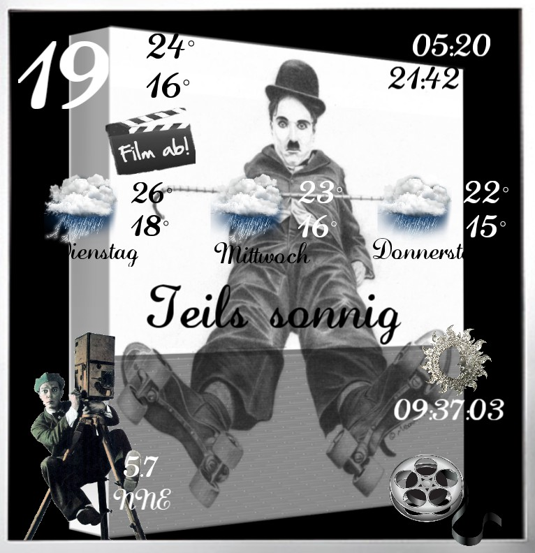 Widget Wetter Charlie Chaplin