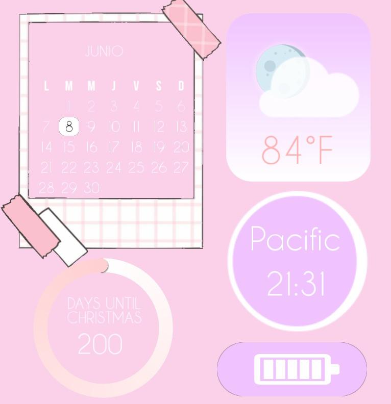 Cute multiuse widget