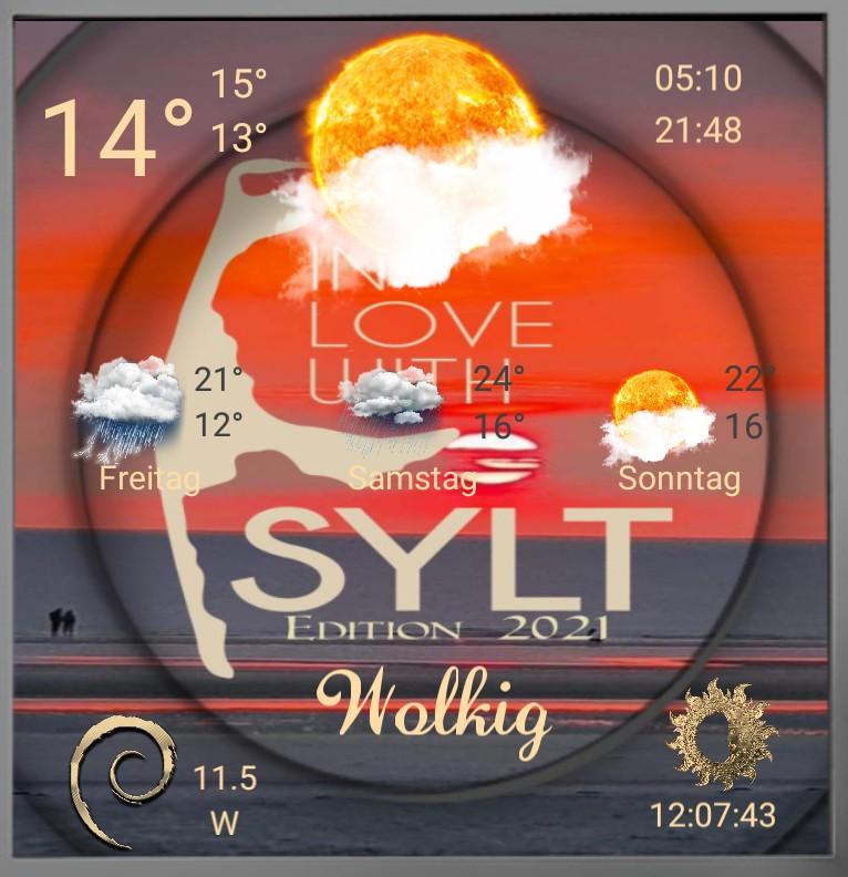 Widget Wetter Sylt Edition 2021