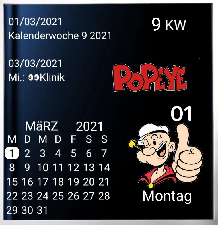 Kalender gross Serie Popeye