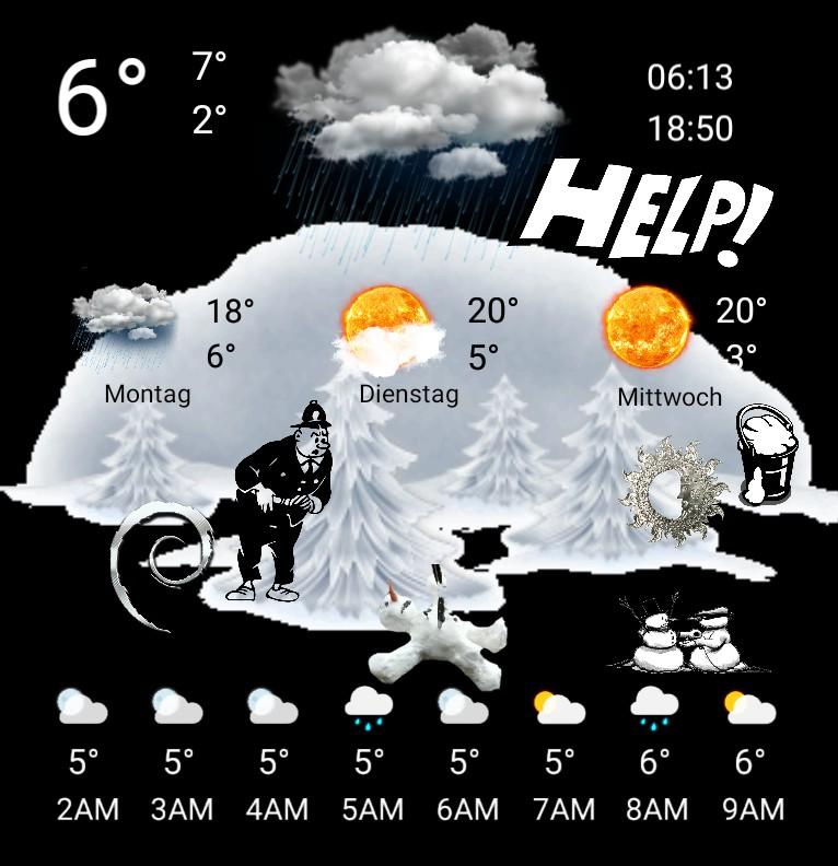 Widget Wetter Snowman