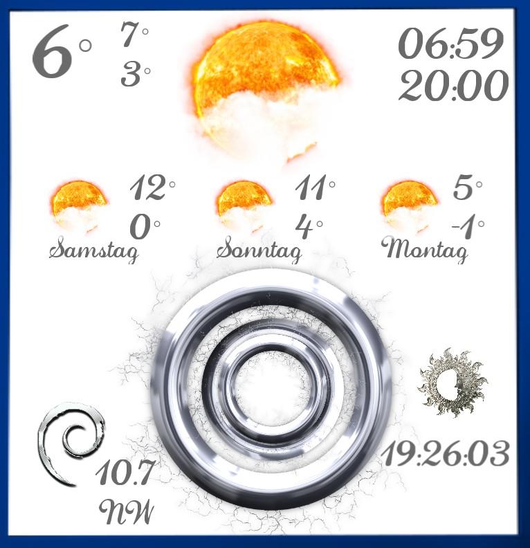 Widget Wetter Design 1466