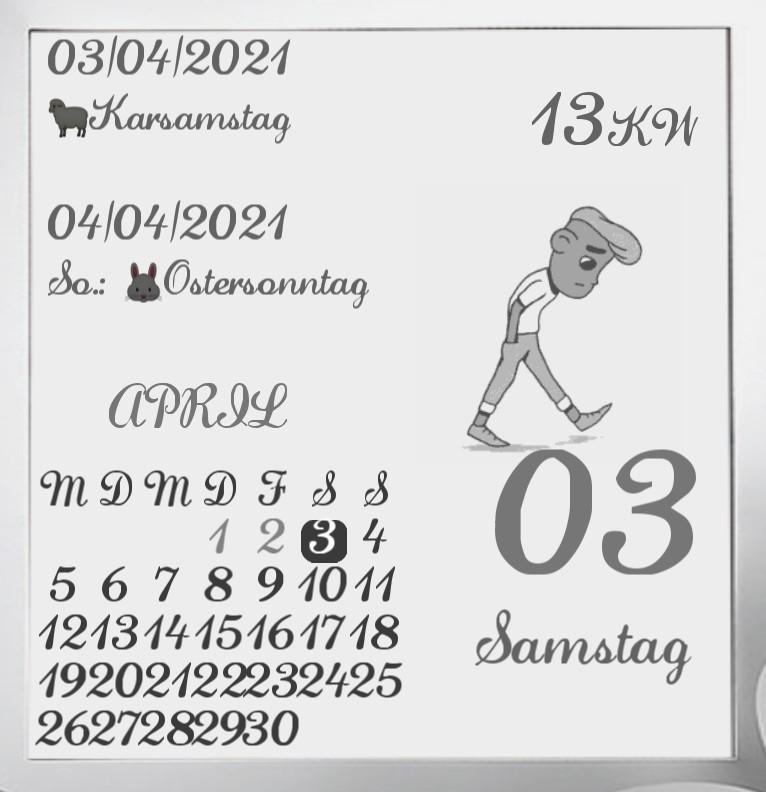 Kalender  Comic Man