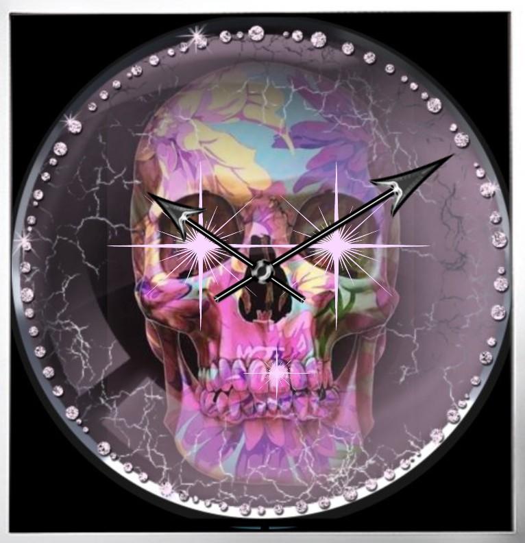 Clock Lady Skull