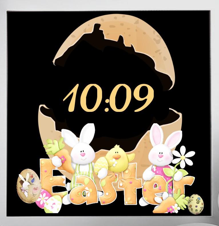 Easter Natur Clock  Digi