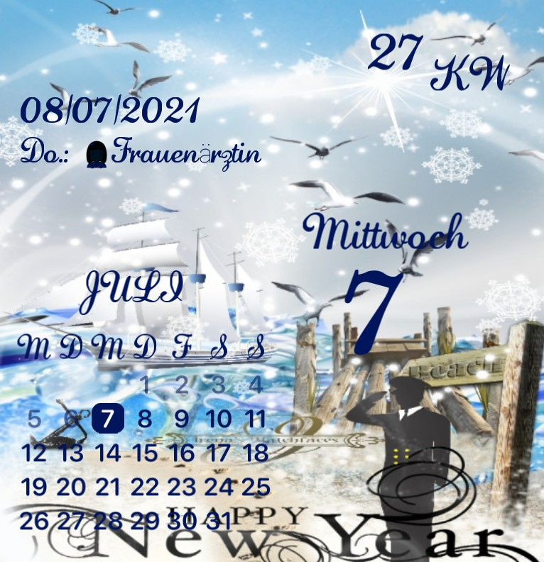 Kalender Kuestenkind 20 Silvester New Year Tag