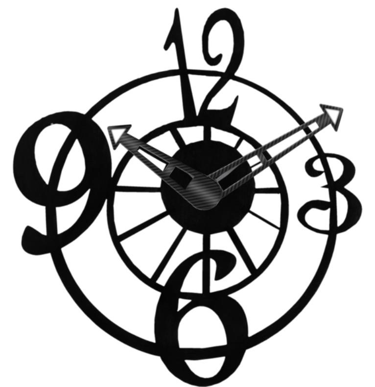 Clock Black and White +