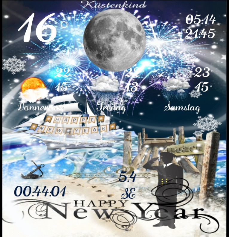 Widget Wetter Kuestenkind 20 Silvester New Year Nacht