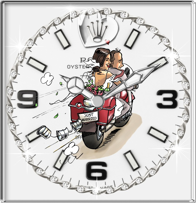 Clock R...x Hochzeitstag  Bike