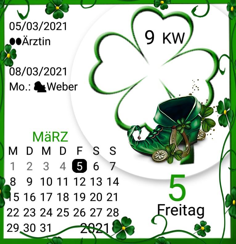 Kalender gross Serie Saint Patricks Day
