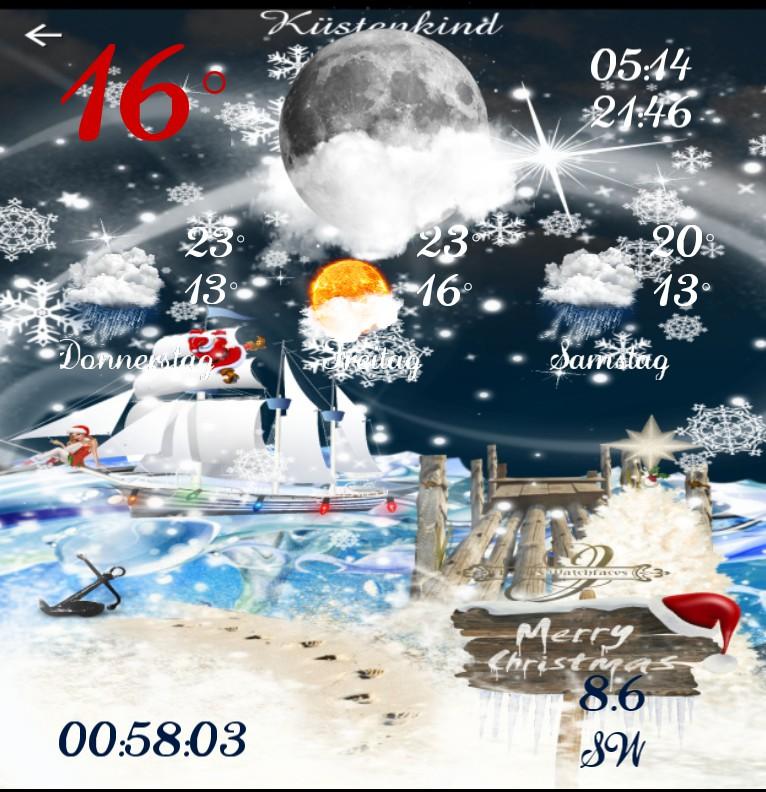 Widget Wetter Kuestenkind 20 Weihnachten Nacht