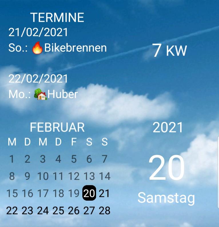 Kalender gross Wolke