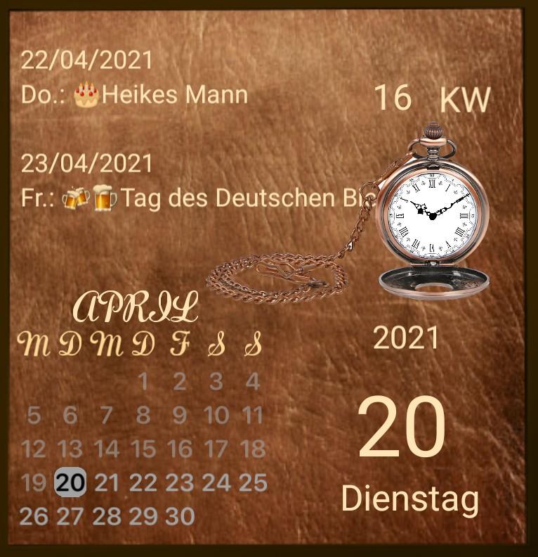 Kalender Leder Magie