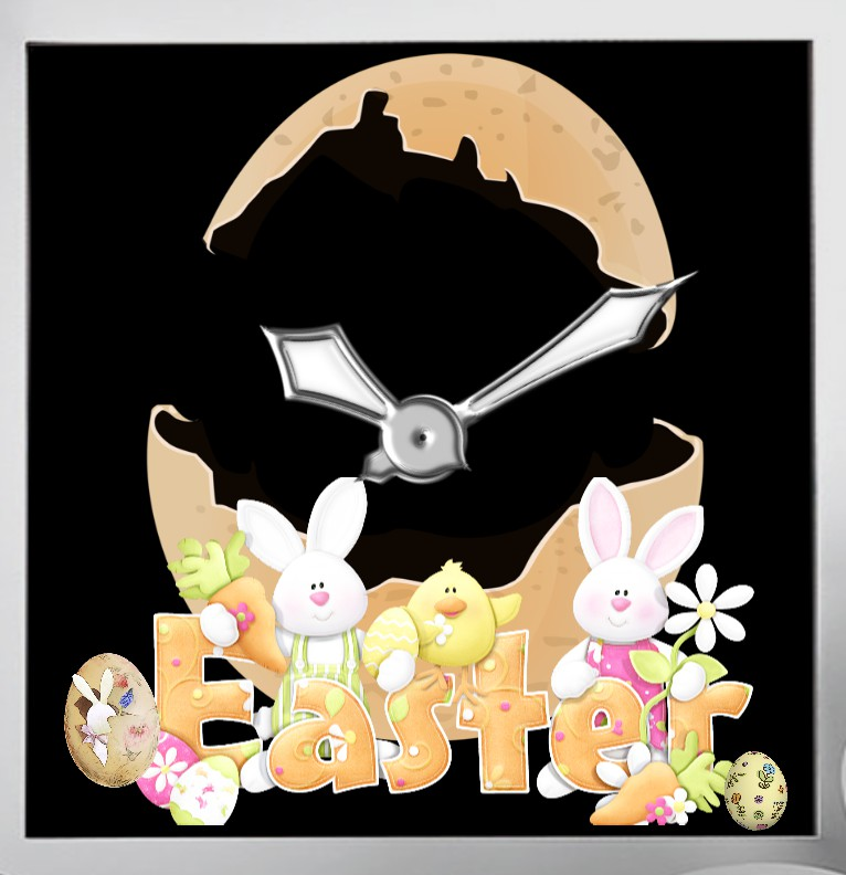 Easter Natur Clock