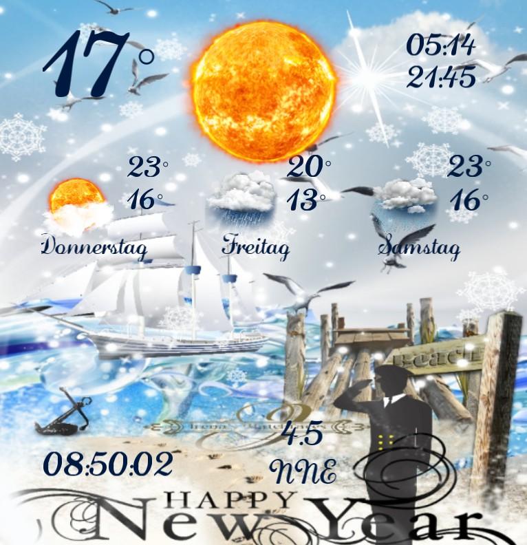 Widget Wetter Kuestenkind 20 Silvester New Year Tag