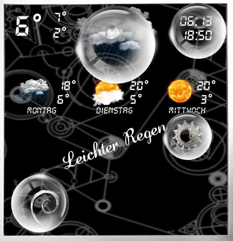 Widget Wetter Design Serie 1464