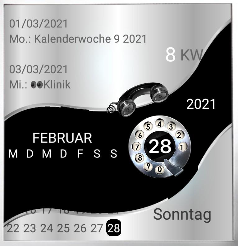 Kalender gross Serie Telefon