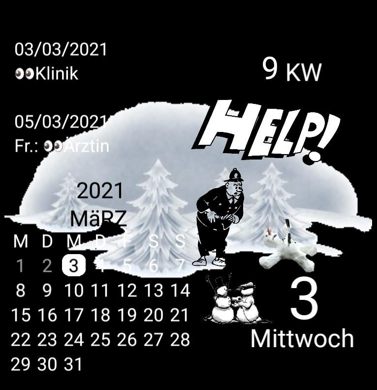 Kalender gross Serie Snowman