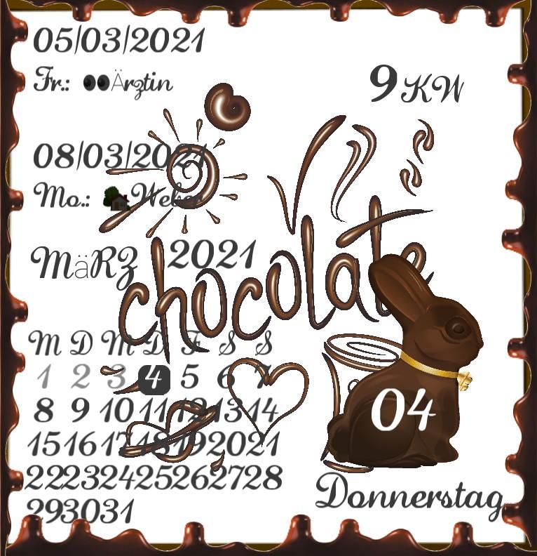 Kalender  Ostern Schoko