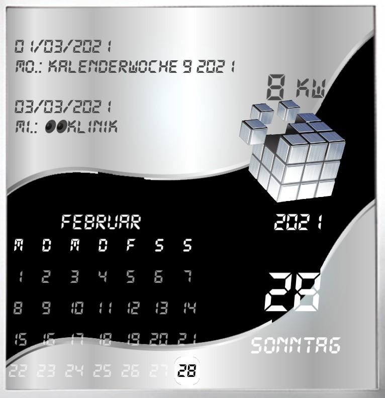 Kalender gross Serie Cube