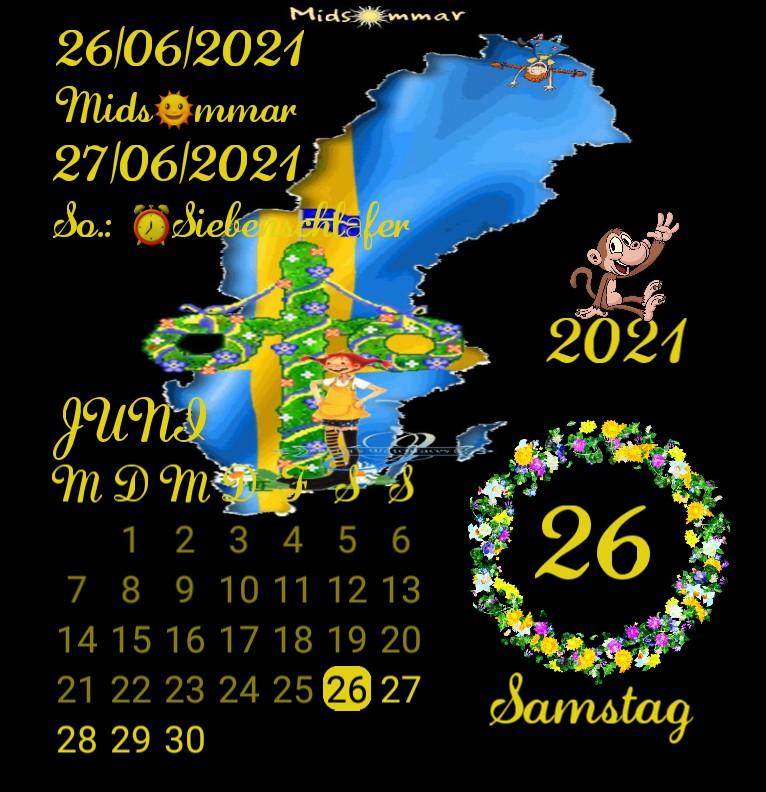 Kalender Midsommar Schweden