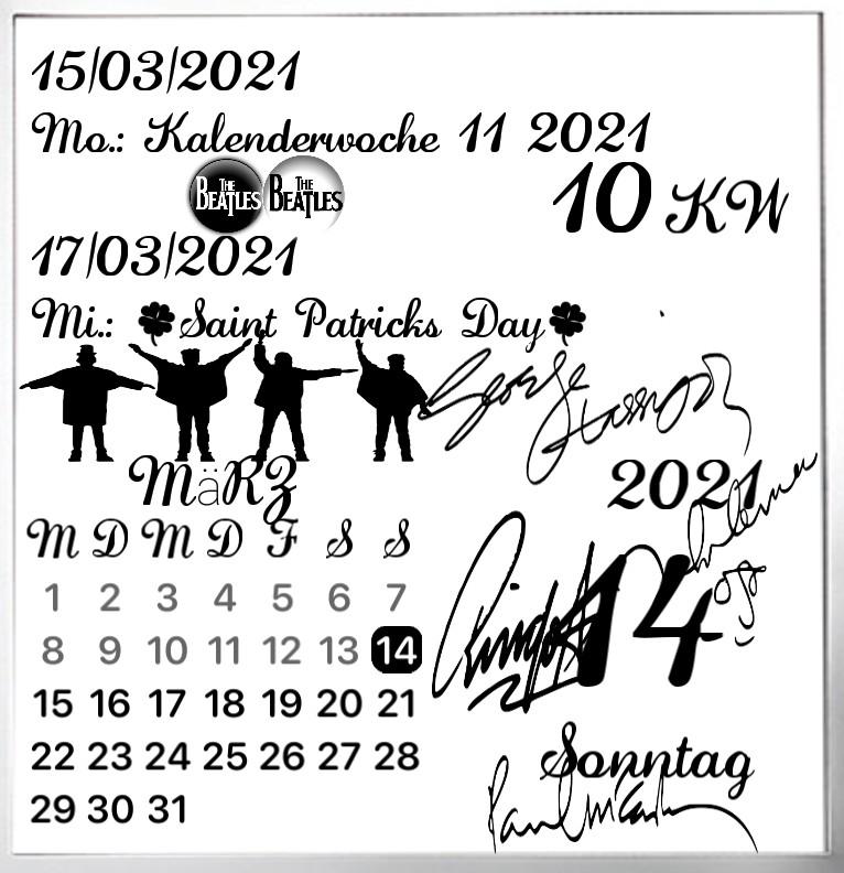 Kalender gross Serie The Beatles
