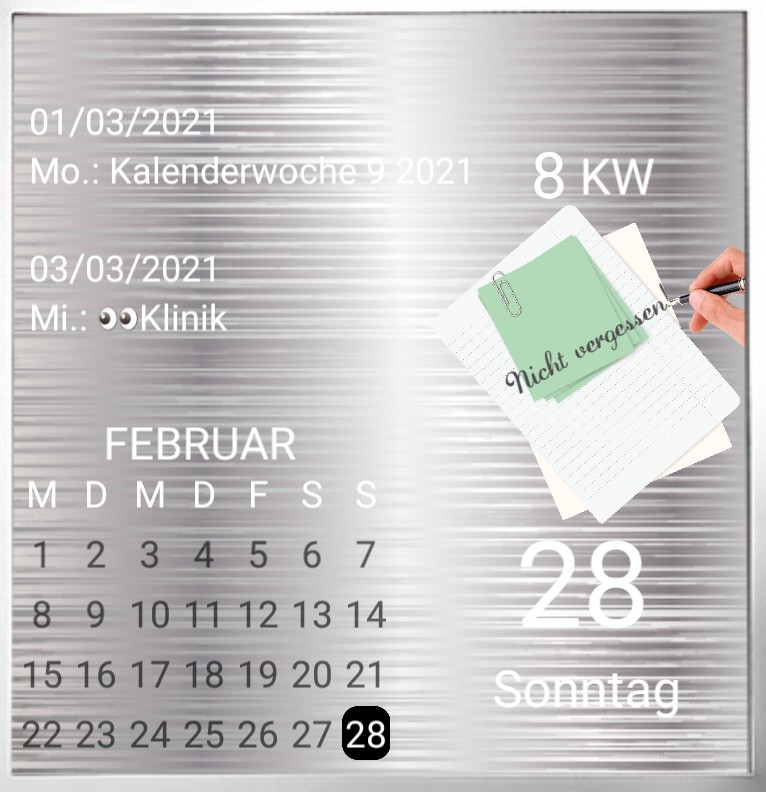 Kalender gross Serie Rezept