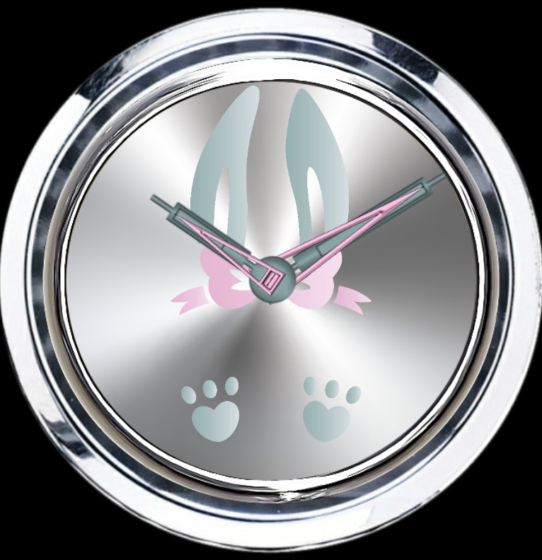 Clock Ostern Hase