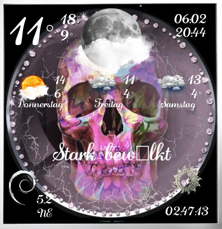 Widget Wetter Lady Skull