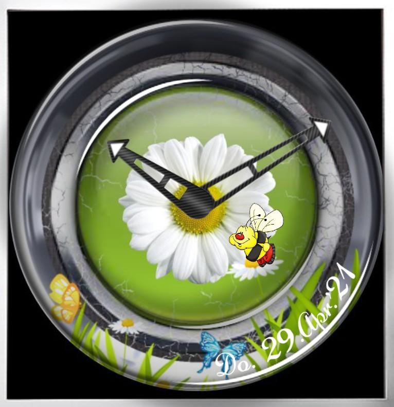 Clock Flower Time  Copy