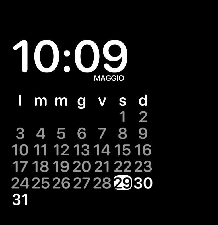 hour and calendar